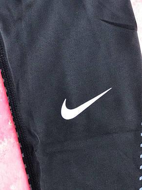Термо-штаны черные с синим Nike Pro 2019 компрессионные штаны мужские термобелье, фото 3