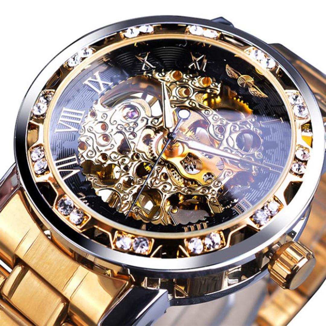Механические часы Winner Diamonds (gold)