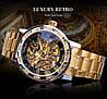 Механические часы Winner Diamonds (gold), фото 2