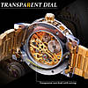 Механические часы Winner Diamonds (gold), фото 7