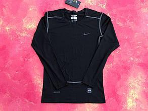Термо-кофта  мужская черная Nike Pro Combat Core Compression термобелье