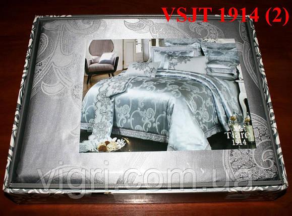 Постельное белье семейное, сатин жаккард Tiare Вилюта. VSJT 1914, фото 2