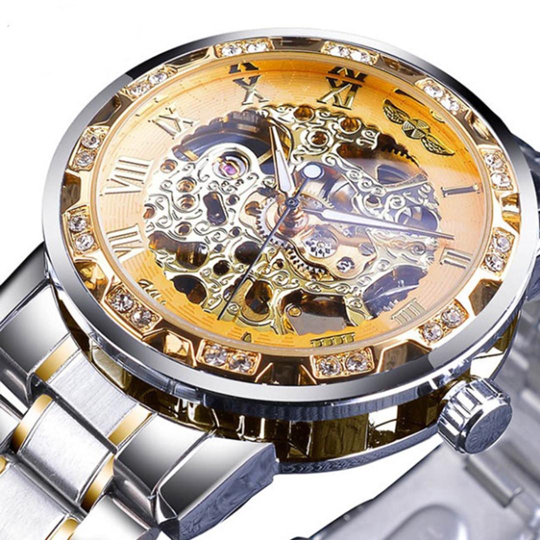 Механические часы Winner Diamonds (silver-gold)