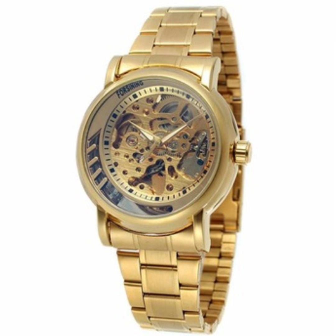 Механические часы Forsining Skeleton (gold)