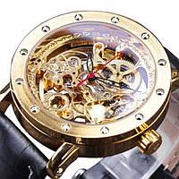 Механические часы с автоподзаводом Forsining Skeleton (gold)
