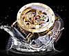 Механические часы с автоподзаводом Forsining Skeleton (gold), фото 2