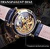 Механические часы с автоподзаводом Forsining Skeleton (gold), фото 3