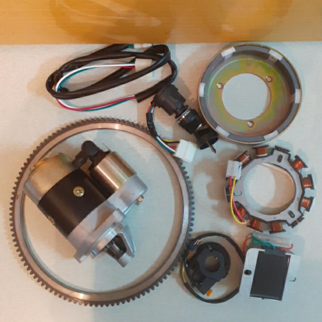 Набор для переоборудования мотоблока на электростартер полный 186f
