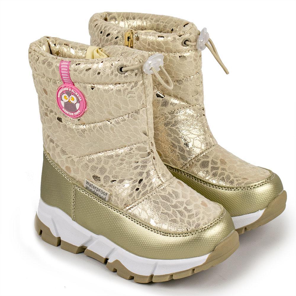 Чоботи зимові для дівчаток Tom.m арт.980750 золотий 23(р)