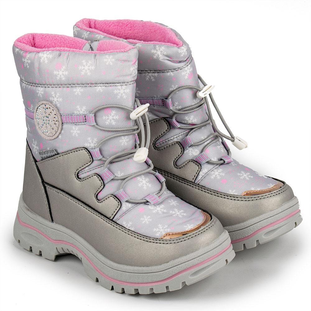 Чоботи зимові для дівчаток Tom.m арт.980753 сірий 29(р)