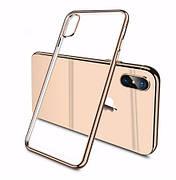 Силиконовый чехол Color Frame для iPhone 5 / 5s / SE Gold