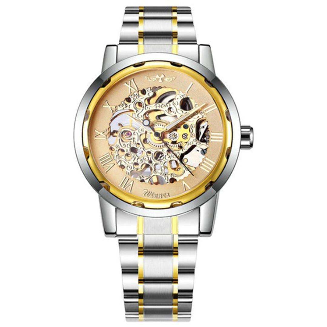 Механические часы Winner Skeleton Steel (gold)