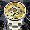 Механические часы Winner Skeleton Steel (gold), фото 5