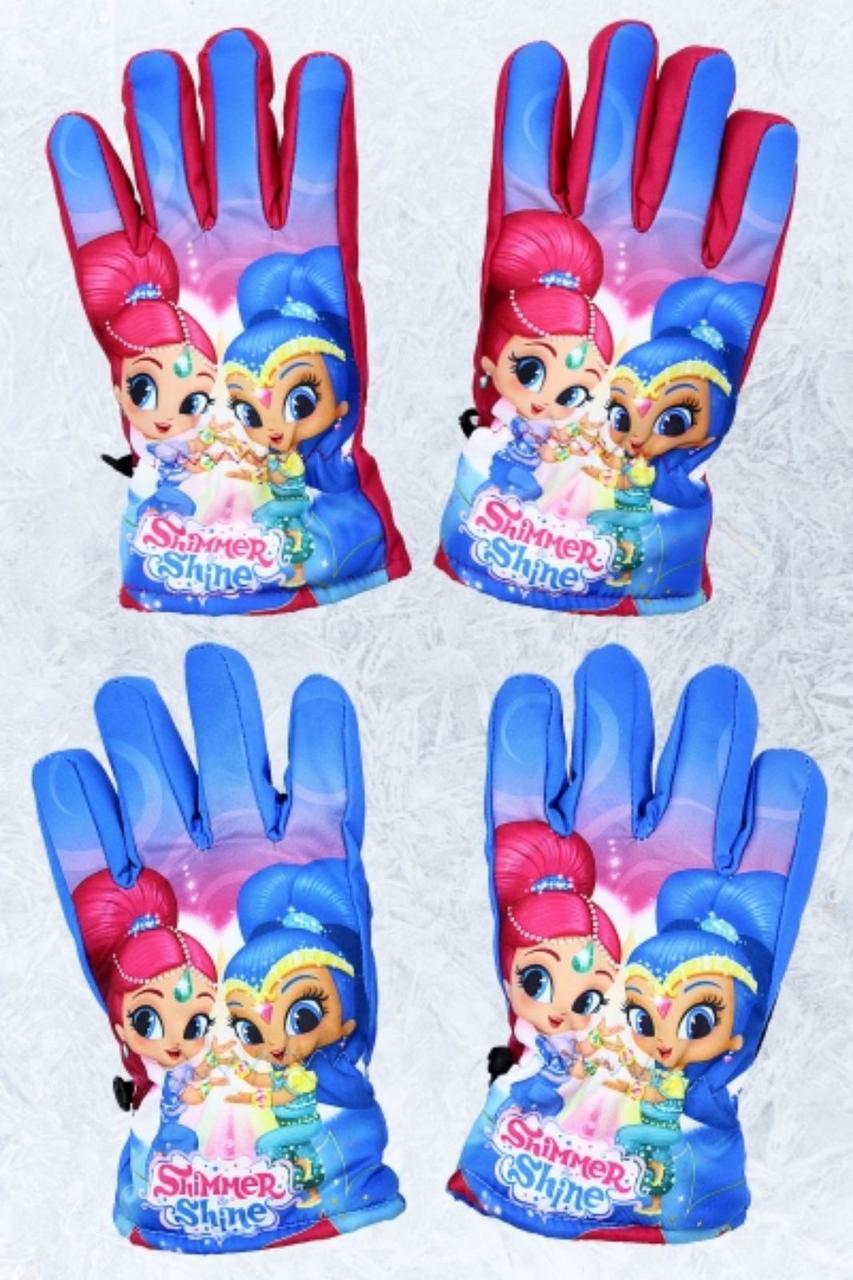 Перчатки Дисней для девочек 3/4-5/6 лет оптом, болоневые,  арт. 800-562