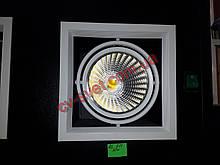 Карданний світильник Вбудований Feron AL211 1x30w 185х185х130 мм (біла рамка)