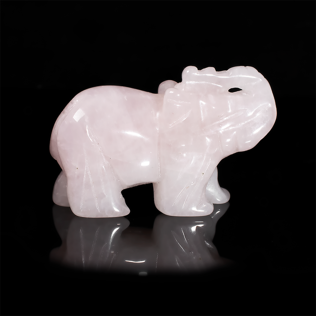 Статуэтка Слоник из розового кварца, 500ФГР