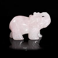 Статуэтка Слоник из розового кварца, 500ФГР, фото 1
