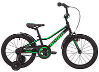 "Велосипед 18"" Pride FLASH 18 чорний 2019"