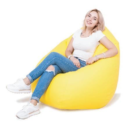"""Кресло-Мешок """"ГРУША"""" (110x80) Оксфорд размера M, С Чехлом, Желтое / ОТ ПРОИЗВОДИТЕЛЯ"""