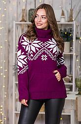 Вязаный свитер «Снежка»