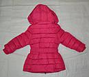 Детская зимняя куртка для девочки фуксия  (Nature, Венгрия), фото 2