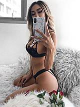 Кружевной женский комплект эротического нижнего белья Ruby Black, фото 3