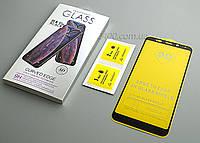 Защитное Стекло 5D для телефона Xiaomi Redmi 5 Plus (черное)