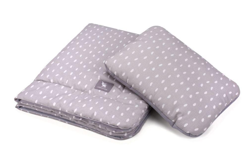 Плед с подушкой Cottonmoose Cotton Velvet 408/133/117 rain gray cotton velvet gray (серый (капли) с серым