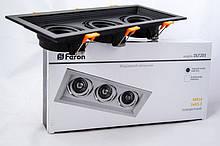 Карданний світильник Вбудований Feron DLT203 320х130 мм (чорний)