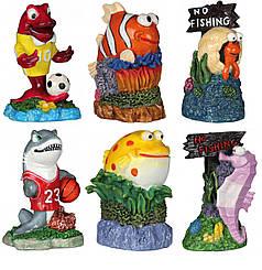 Набір гротів для рибок Trixie Морські мешканці 12 шт., 7 см