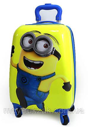 Детский чемодан дорожный Миньоны - 5, на четырех колесах 520468, фото 2