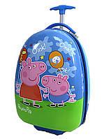 Детский чемодан дорожный на колесах «Свинка Пеппа -6», 520471