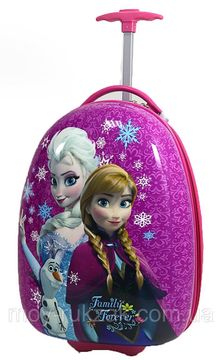 """Детский чемодан дорожный на колесах """"Frozen, Анна и Эльза"""" 520476"""