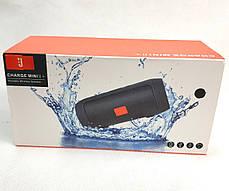 Портативная колонка bluetooth блютуз акустика для телефона мини с флешкой черная mini2+, фото 3