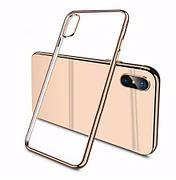 Силиконовый чехол Color Frame для Samsung A8 plus Gold