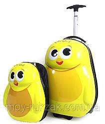 """Набор чемодан детский на колесах + рюкзак """"Josef Otten"""" """"Цыплёнок"""" 520499"""
