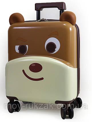 """Детский чемодан дорожный на колесах 18"""" """"Пёсик"""" с мягкими ушками 520508, фото 2"""