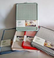 Сушилка для посуды пластиковая большая 435х340х20 мм Hobby Life OST-027