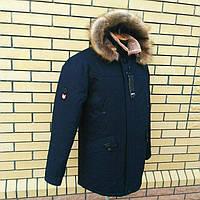 Мужская зимняя куртка парка молодежная . Мех рыжий