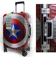 """Детский чемодан дорожный 20"""" «Marvel» Марвел , кодовый замок + ключ, органайзер, подножка 520519"""