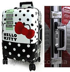 """Детский чемодан дорожный 20"""" «Josef Otten» «Hello Kitty», кодовый замок + ключ, органайзер, подножка 520520"""