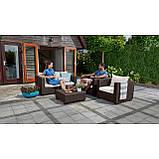 Набор садовой мебели Salta 2-Seater Lounge Set Brown ( коричневый ) из искусственного ротанга ( Allibert ), фото 6