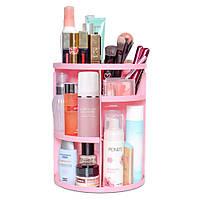 Органайзер для косметики 360° Rotation Cosmetic Organizer розовый, фото 1