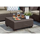 Набор садовой мебели Salta 2-Seater Lounge Set Brown ( коричневый ) из искусственного ротанга ( Allibert ), фото 9