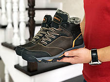 Кожаные зимние мужские ботинки Merrell, коричневые, фото 2