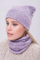 Комплект зимний на флисе шапка и хомут