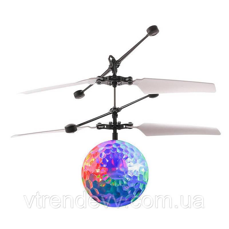 Летающий шар вертолет квадрокоптер на аккумуляторе героскоп Whirly Ball