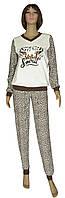NEW! Молодежные женские трикотажные пижамы на байке - серия Леопардик ТМ УКРТРИКОТАЖ!