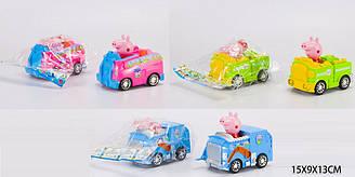 "Машина інерційна Peppa Pig PP ""Свинка Пепа"" XZ-372A/373A/374A (168шт/2) 3 види, в пакеті 15*9, 5*13 см"