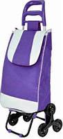 Тачка сумка тележка кравчучка с тройным колесом 95см Stenson MH-2786 Violet